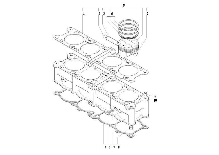 mv agusta parramatta - f4 750 2001 - cylinders